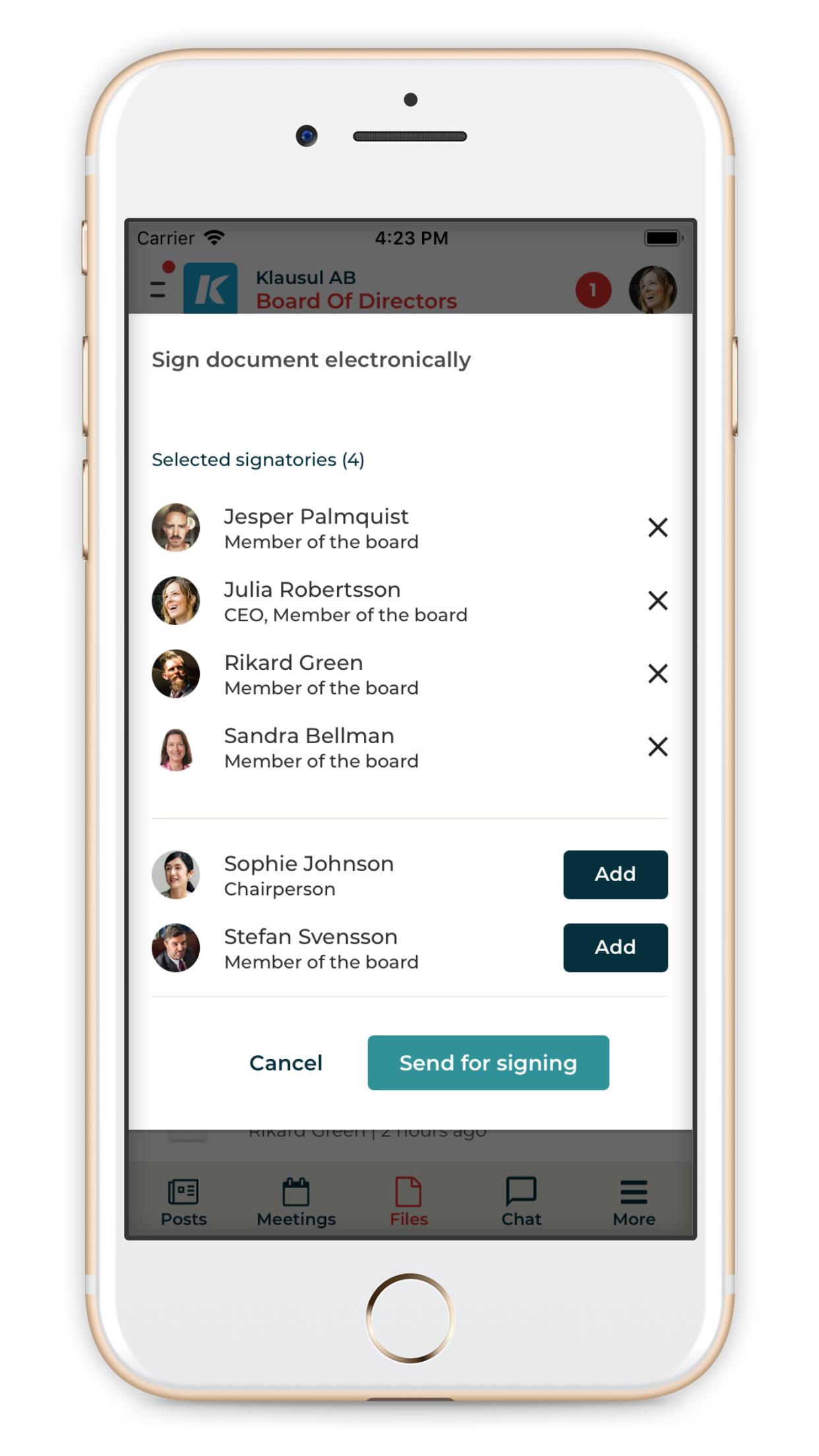 Signera styrelsens dokument enkelt
